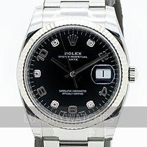Rolex Oyster Perpetual Date Guld/Stål 34mm Svart Sverige, Stockholm