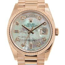 Rolex 128235N8R2BWT_P Rose gold Day-Date 36mm new