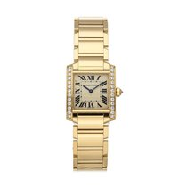Cartier Tank Française Yellow gold 25mm Silver Roman numerals United States of America, Pennsylvania, Bala Cynwyd