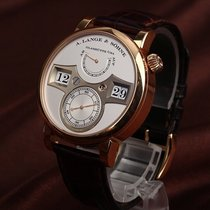 A. Lange & Söhne Red gold Manual winding Silver Arabic numerals 42mm pre-owned Zeitwerk
