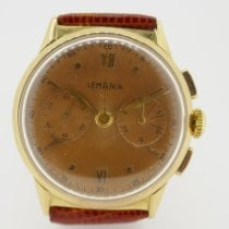 Lemania Yellow gold 32,2mm Manual winding pre-owned