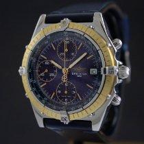 Breitling Chronomat usados 39mm Azul Cronógrafo Fecha Piel