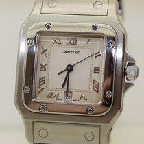 Cartier Acier 30mm Quartz Santos Galbée occasion