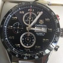 泰格豪雅 Carrera Calibre 16 鋼 43mm 黑色 阿拉伯數字