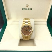 Rolex Day-Date Oysterquartz Yellow gold 36mm Brown No numerals United States of America, California, Los Angeles