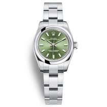 Rolex Oyster Perpetual 26 Acero 26mm Verde Sin cifras