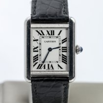 Cartier Tank Solo Steel 24mm Grey Roman numerals