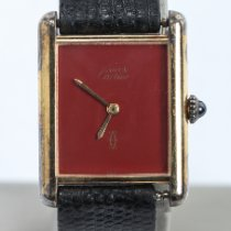 Cartier Tank Vermeil Silver 23.3mm Red No numerals United States of America, Nevada, Las Vegas