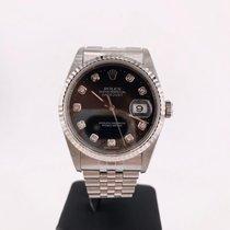 Rolex Datejust Steel Black No numerals