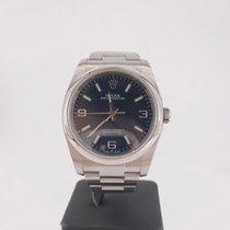Rolex Oyster Perpetual 36 Steel Blue Arabic numerals