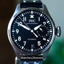 IWC Große Fliegeruhr Stahl Schwarz Arabisch