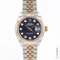Rolex Lady-Datejust Золото/Cталь 28mm Фиолетовый