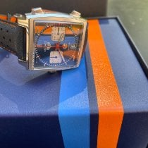 TAG Heuer Monaco neu 2021 Automatik Chronograph Uhr mit Original-Box und Original-Papieren CAW211R.FC6401