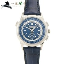 Patek Philippe World Time Chronograph Oro blanco 39.5mm Azul