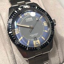 Oris Divers Sixty Five rabljen 40mm Plav-modar Datum, nadnevak Zeljezo