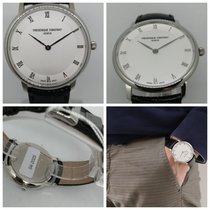 Frederique Constant Slimline Mid Size Steel 39mm Silver Roman numerals