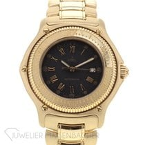 Ebel Discovery Yellow gold 38mm Black Roman numerals