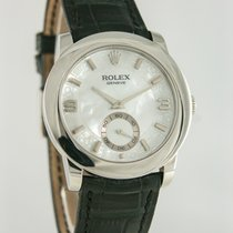 Rolex Cellini Platin 35mm Perlmutt Römisch Deutschland, Heilbronn