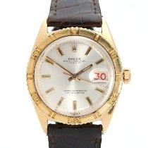 Rolex Or jaune Remontage automatique Argent 36mm occasion Datejust Turn-O-Graph