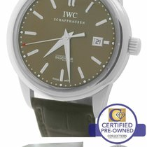 IWC Ingenieur Automatic pre-owned 42.5mm Brown Date Leather