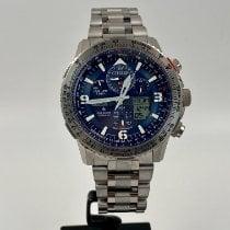 Citizen Promaster Sky Titanium 45mm Blue Arabic numerals