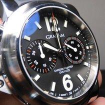Graham Chronofighter Oversize Steel 46mm Black