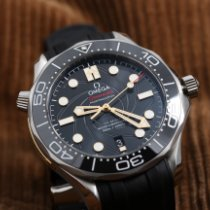 Omega Seamaster Diver 300 M Staal 42mm Zwart Geen cijfers