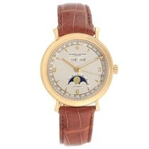 Vacheron Constantin Historiques pre-owned 36mm Silver Moon phase Date Weekday Month Leather
