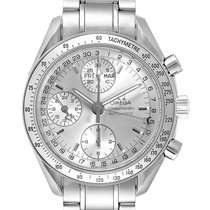 Omega Speedmaster Day Date pre-owned 39mm Silver Chronograph Date Weekday Month Tachymeter