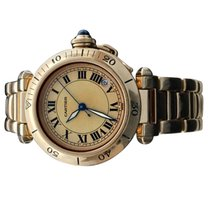 Cartier Pasha C Yellow gold 36mm Champagne Roman numerals United States of America, New York, Greenvale