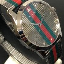 Gucci G-Timeless Ocel 42mm Stříbrná Bez čísel