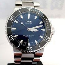 Oris Aquis Date occasion 43mm Bleu Plis