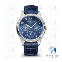 Patek Philippe Perpetual Calendar White gold 39mm Blue Arabic numerals United States of America, New York, New York