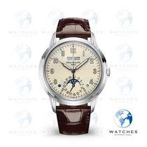 Patek Philippe Perpetual Calendar White gold 40mm Champagne Arabic numerals United States of America, New York, New York