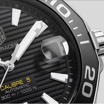 TAG Heuer Steel Automatic Black No numerals 41mm new Aquaracer 300M