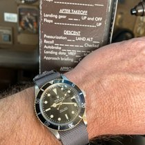 Rolex Submariner (No Date) pre-owned Black Leather