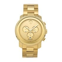 Movado Bold Or jaune 44mm Or Sans chiffres