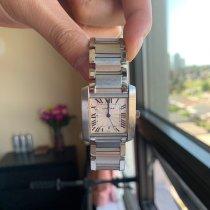 Cartier gebraucht Quarz 25mm Weiß Saphirglas 3 ATM
