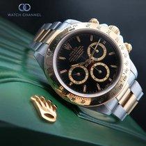 Rolex Daytona Aur/Otel 40mm Negru Fara cifre