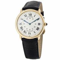 Cartier Gelbgold Handaufzug Weiß 33.5mm Ronde Louis Cartier
