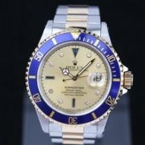 Rolex Submariner Date Zlato/Zeljezo 40mm Zlatan Bez brojeva