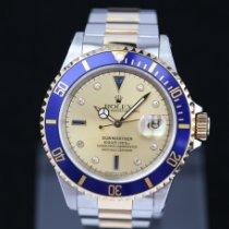 Rolex Submariner Date Guld/Stål 40mm Guld Inga siffror