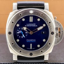Panerai Luminor Submersible 1950 3 Days Automatic Titanium 47mm Blue United States of America, Massachusetts, Boston