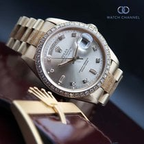 Rolex Day-Date Yellow gold 36mm Champagne No numerals