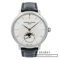 Frederique Constant Manufacture Slimline Moonphase pre-owned 42mm Moon phase Date Crocodile skin