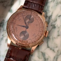 Chronographe Suisse Cie Or rose Remontage manuel occasion