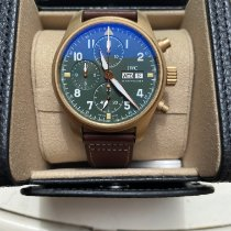 IWC Pilot Spitfire Chronograph Brąz 41mm Zielony Arabskie