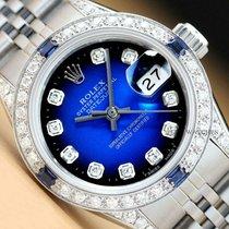 Rolex Lady-Datejust Stahl 26mm Blau