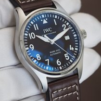 IWC Pilot Mark Stål 40mm Blå Arabisk