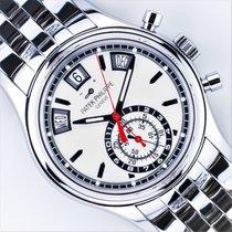 Patek Philippe Annual Calendar Chronograph Staal 40.5mm Zilver Geen cijfers